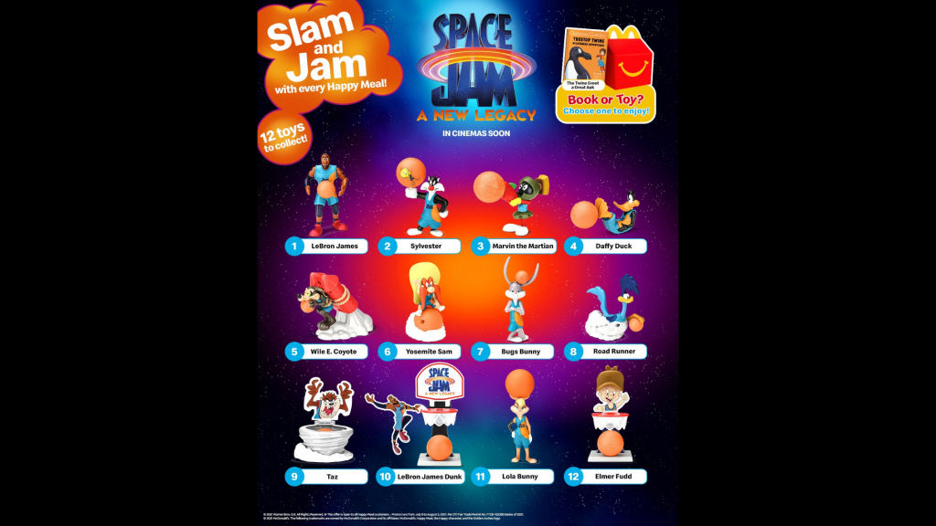 Grab Your Lebron James and his Space Jam Tune Squad Toy Collectibles at McDonald's