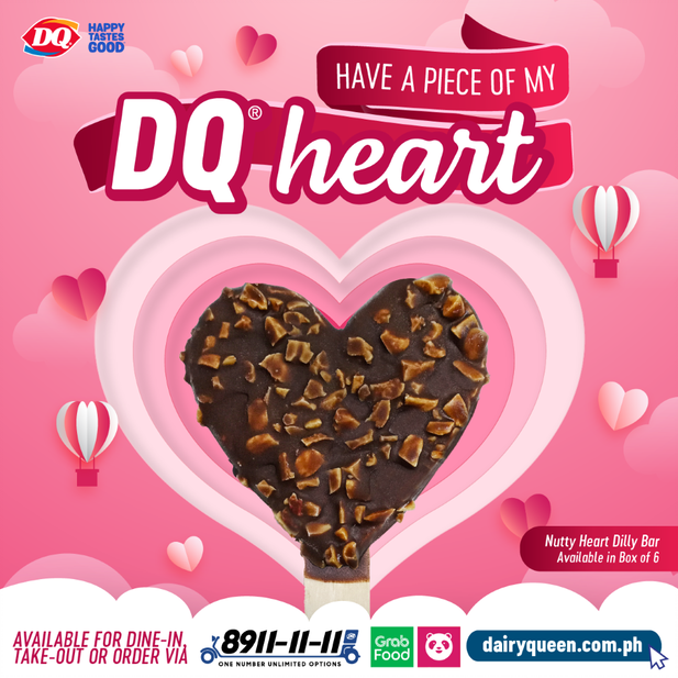 Dairy Queen Brings You Valentine-themed Blizzard Cakes and Nutty Dilly Bars
